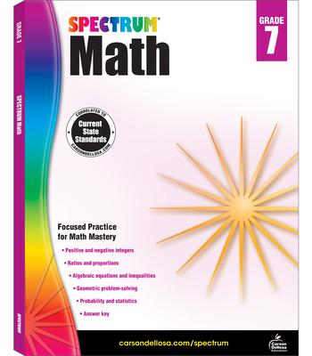 Spectrum Math Workbook, Grade 7 Cover Image