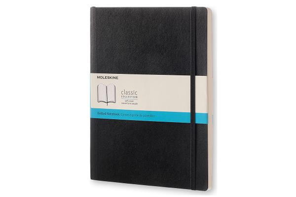 Moleskine Classic Notebook, Extra Large, Dotted, Black, Soft Cover (7.5 x 10) Cover Image
