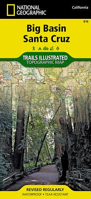 Big Basin, Santa Cruz (National Geographic Trails Illustrated Map #816) Cover Image
