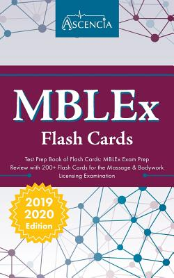 MBLEx Test Prep Book of Flash Cards: MBLEx Exam Prep Review with 200+ Flashcards for the Massage & Bodywork Licensing Examination Cover Image