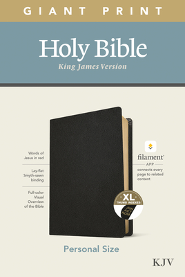 KJV Personal Size Giant Print Bible, Filament Enabled Edition (Genuine Leather, Black, Indexed) Cover Image