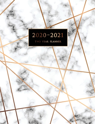 2020-2021 Two Year Planner: Large Monthly Planner with Inspirational Quotes and Marble Cover (Volume 5) Cover Image