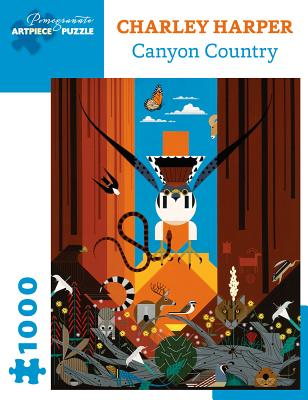 Charley Harper: Canyon Country 1000-Piece Jigsaw Puzzle Cover Image