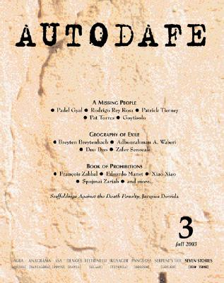 Autodafe 3/4: The Journal of the International Parliament of Writers Cover Image