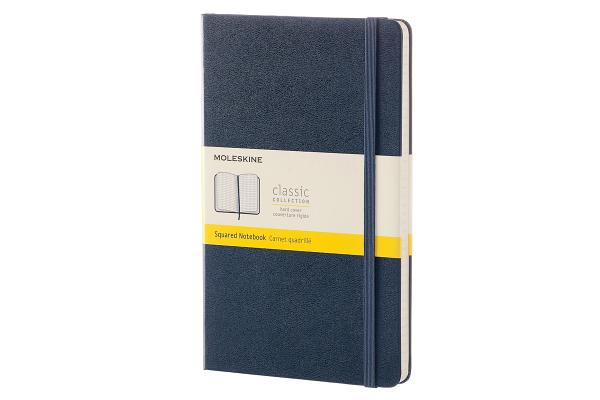 Moleskine Classic Notebook, Large, Squared, Sapphire Blue, Hard Cover (5 x 8.25) Cover Image