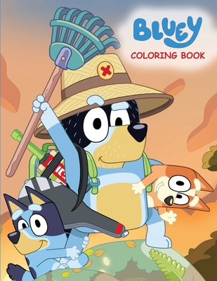 Bluey Coloring Book: Big Simple Coloring Pages For Kids Cover Image