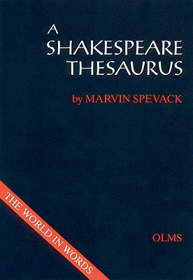 A Shakespeare Thesaurus Cover Image