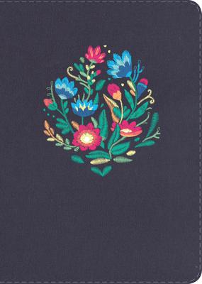 Cover for NVI Biblia Compacta Letra Grande, azul bordado sobre tela con índice