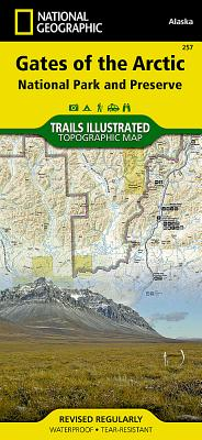 Gates of the Arctic National Park and Preserve (National Geographic Trails Illustrated Map #257) Cover Image