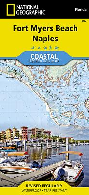 Fort Myers Beach, Naples (National Geographic Trails Illustrated Map #407) Cover Image