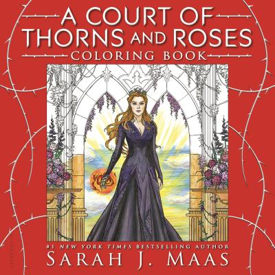 A Court of Thorns and Roses Coloring Book Cover Image