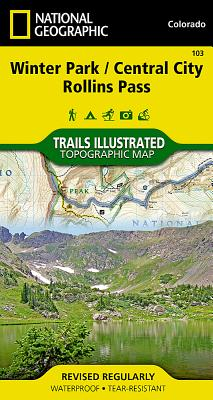 Winter Park, Central City, Rollins Pass (National Geographic Maps: Trails Illustrated #103) Cover Image