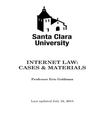 Internet Law Cases & Materials (2015) Cover Image