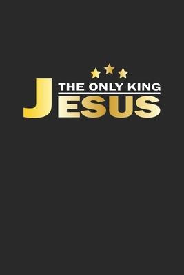 The only King Jesus: Notizbuch Geschenk-Idee - Karo - A5 - 120 Seiten Cover Image