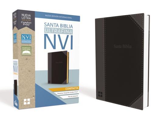 Santa Biblia Nvi, Ultrafina Compacta, Leathersoft, Negra Cover Image