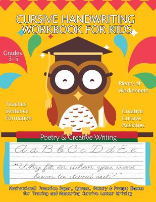 Cursive Handwriting Workbook for Kids: Motivational Practice Paper, Quotes, Poetry & Prompt Sheets for Tracing and Mastering Cursive Letter Writing: G Cover Image