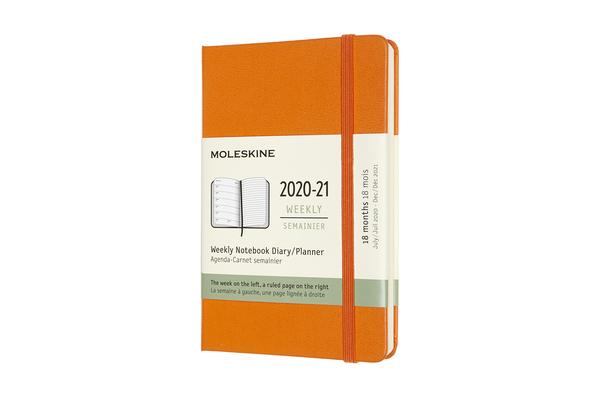 Moleskine 2020-21 Weekly Planner, 18M, Pocket, Cadmium Orange, Hard Cover (3.5 x 5.5) Cover Image