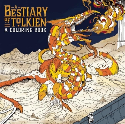 A Bestiary of Tolkien Coloring Cover
