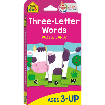 Three Letter Words: Puzzle Card Cover Image