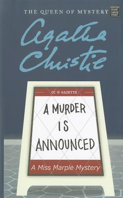 A Murder Is Announced (Miss Marple Mysteries (Large Print)) Cover Image