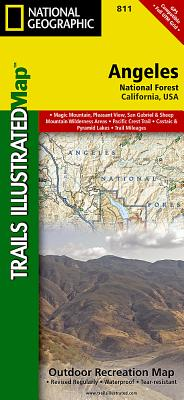 Angeles National Forest, California, USA Outdoor Recreation Map (National Geographic Maps: Trails Illustrated #811) Cover Image