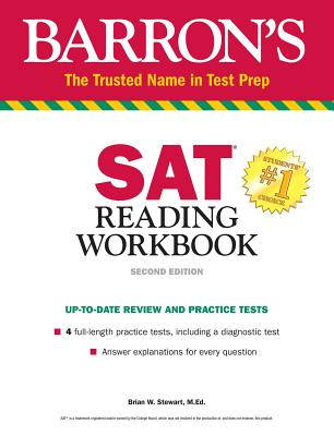 SAT Reading Workbook (Barron's Test Prep) Cover Image