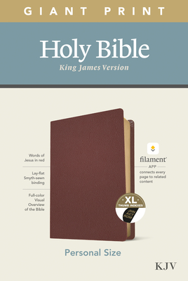 KJV Personal Size Giant Print Bible, Filament Enabled Edition (Genuine Leather, Burgundy, Indexed) Cover Image