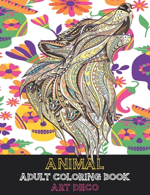 Adult Coloring Book Art Deco - Animal Cover Image