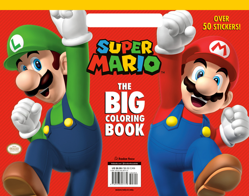 Super Mario: The Big Coloring Book (Nintendo) Cover Image