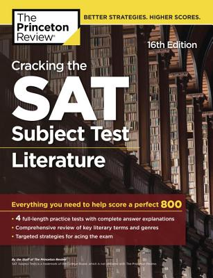 Cracking the SAT Literature Subject Test, 16th Edition cover image