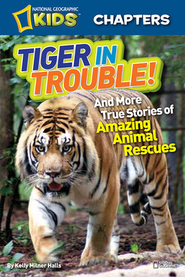 National Geographic Kids Chapters: Tiger in Trouble!: and More True Stories of Amazing Animal Rescues (NGK Chapters) Cover Image