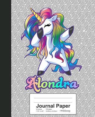 Journal Paper: ALONDRA Unicorn Rainbow Notebook Cover Image