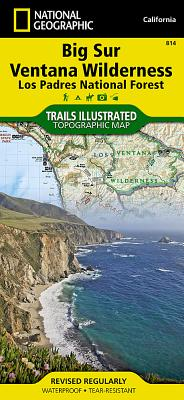 Big Sur, Ventana Wilderness [Los Padres National Forest] (National Geographic Trails Illustrated Map #814) Cover Image