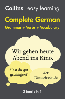 Complete German Grammar Verbs Vocabulary: 3 Books in 1 (Collins Easy Learning) Cover Image