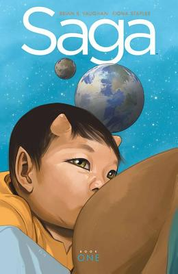 Saga Book One (Saga DLX Ed Hc #1) Cover Image