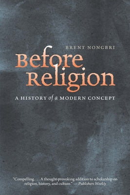 Cover for Before Religion