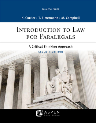 Introduction to Law for Paralegals: A Critical Thinking Approach (Aspen Paralegal) Cover Image