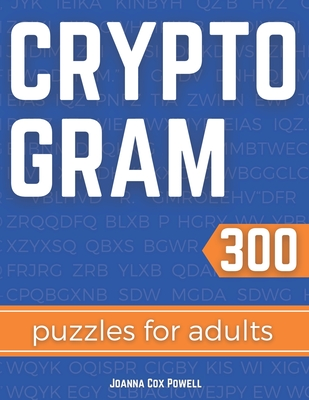Cryptogram Puzzles for Adults: Cryptology and Cryptography Puzzle Book Cover Image