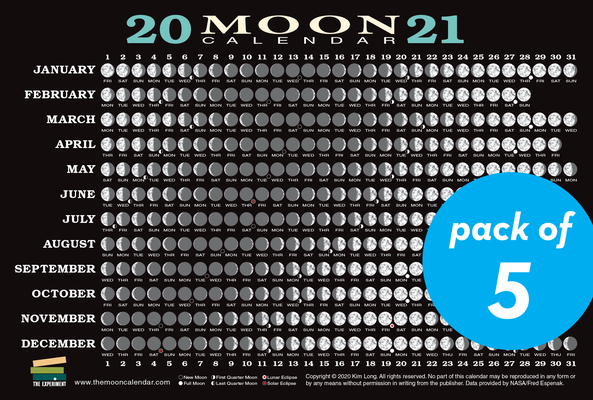 Cover for 2021 Moon Calendar Card (5 pack)
