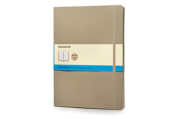 Moleskine Classic Colored Notebook, Extra Large, Dotted, Khaki Beige, Soft Cover (7.5 x 10) Cover Image