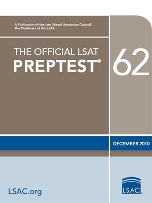 The Official LSAT Preptest 62: (dec. 2010 LSAT) Cover Image