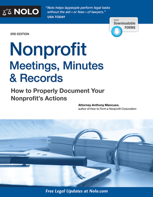 Nonprofit Meetings, Minutes & Records: How to Properly Document Your Nonprofit's Actions Cover Image