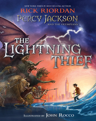 Percy Jackson and the Olympians The Lightning Thief Illustrated Edition (Percy Jackson & the Olympians) Cover Image