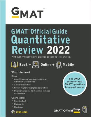 GMAT Official Guide Quantitative Review 2022: Book + Online Question Bank Cover Image