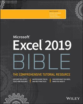 Excel 2019 Bible (Bible (Wiley)) Cover Image
