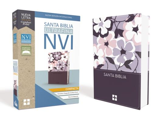 Santa Biblia Nvi, Ultrafina Compacta, Leathersoft, Flores Cover Image