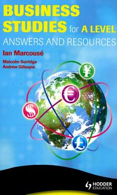 Business Studies for a Level Answers and Mark Schemes Cover Image