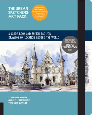 The Urban Sketching Art Pack: A Guide Book and Sketch Pad for Drawing on Location Around the World—Includes a 112-page paperback book plus 112-page sketchpad (Urban Sketching Handbooks #6) Cover Image