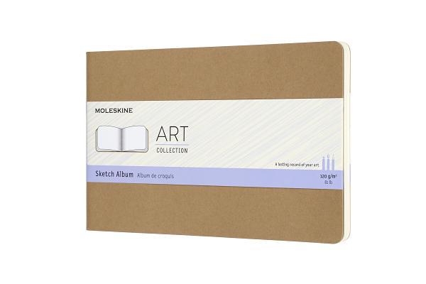 Moleskine Art Cahier, Sketch Album, Large, Kraft Brown (8.25 x 5) Cover Image