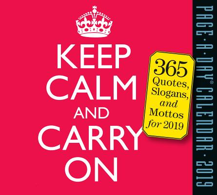 Keep Calm and Carry On Page-A-Day Calendar 2019 Cover Image